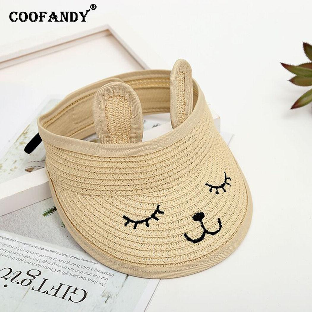 Children Fashion Straw Summer Empty Cap Summer/Spring 1PC 48-52cm/19-20inch 2-6Years Cartoon Sun Casual Hat(China)
