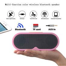 Multi function color Portable Wireless Bluetooth Speaker Bluetooth PC outdoors Boombox HiFi mini bar Sound  speaker with TF MIC ewa a105 mini portable bluetooth speaker w tf handfree function yellow silver