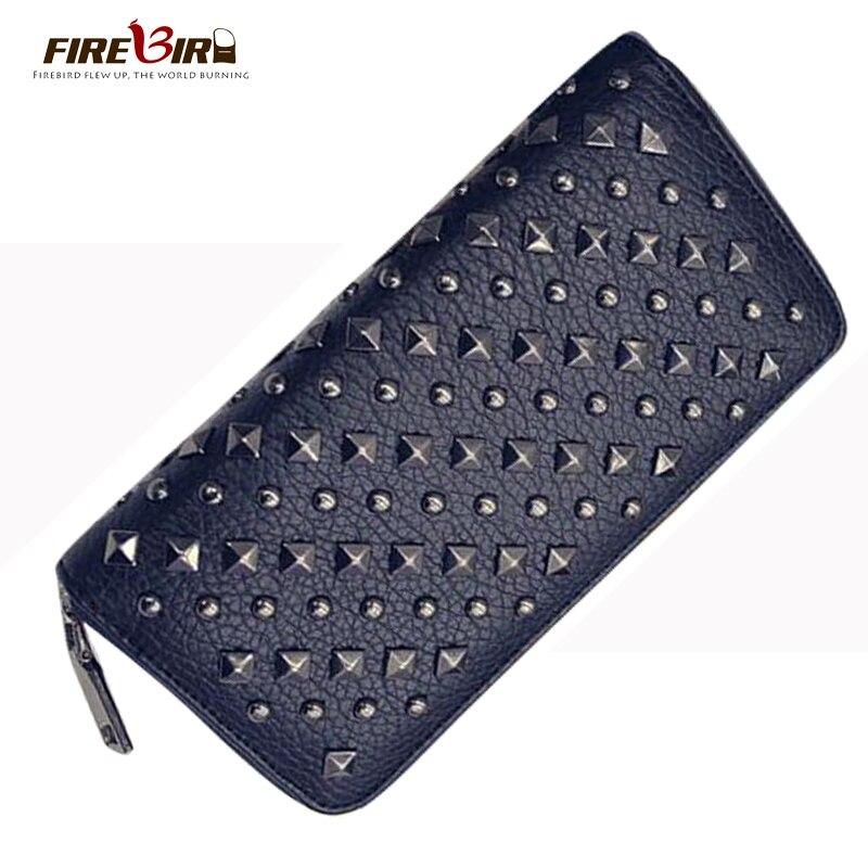 Female Wallet Women S Purse Rivet Ladies Purses Good Quality PU Leather Portefeuille Femme AliExpress Standard