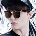 2016 Unisex Sunglasses Men Square Frame Brown Fashion Sun glasses Alloy Cool Oculos De Sol Masculino  6144