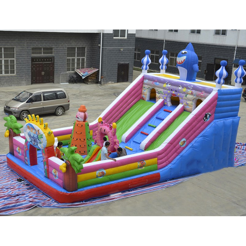 Marine theme Inflatable Trampoline Inflatable Jumping House Air Castle for kids and adults