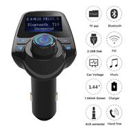 FM Transmitter Bluetooth For Hands Free Radio Receiver Adapter Car Kit Car Charger MP3 Player Support