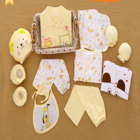 13pcs Set Newborn Baby Boy Clothes Lucky Bird Style Clothing For Babies