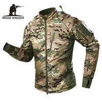 MEGE impermeable de los hombres táctica militar chaqueta caliente de los hombres chaqueta bomber cortavientos con capucha de camuflaje abrigo ejército chaqueta hombre