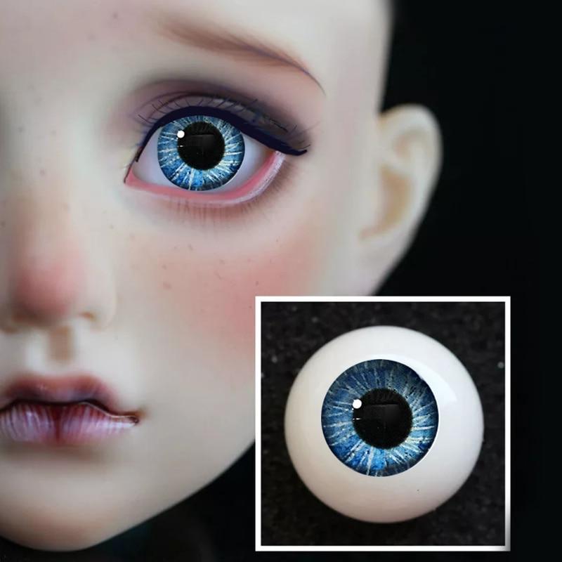 wamami 1 Set 14mm Pink Blue For BJD AOD DOD Dollfie Glass Eyes Outfit