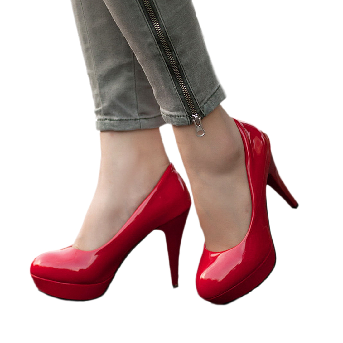 HEBA Classic Sexy Round Toe Platform Low Heels Women Wedding Pumps Shoes Suede недорго, оригинальная цена
