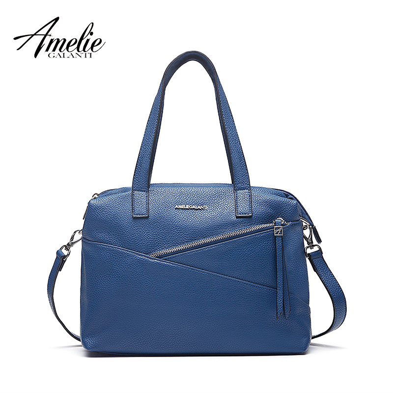 AMELIE GALANTI Brand Women Leather Handbag Crossbody Bag Big Lady Capacity Shoulder Bags Soft fabric Women Bag 2018