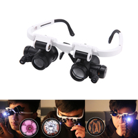 Retractable Kopfhalterung Lupe Mit 2 Led Professionelle juwelier Lupe Licht Halterung Und Stirnband Sind Austauschbar *