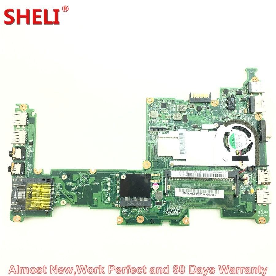 SHELI For Acer Aspire One D270 Series Laptop Motherboard Netbook ZE7 MBSGA06002 MB.SGA06.002 DA0ZE7MB6D0 Atom N2600 Work Perfect