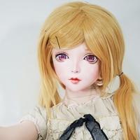 (KM104) Handmade Female Resin Crossdress Pretty Girl Full Head Lolita BJD Doll Mask Cosplay Kigurumi Mask Crossdresse
