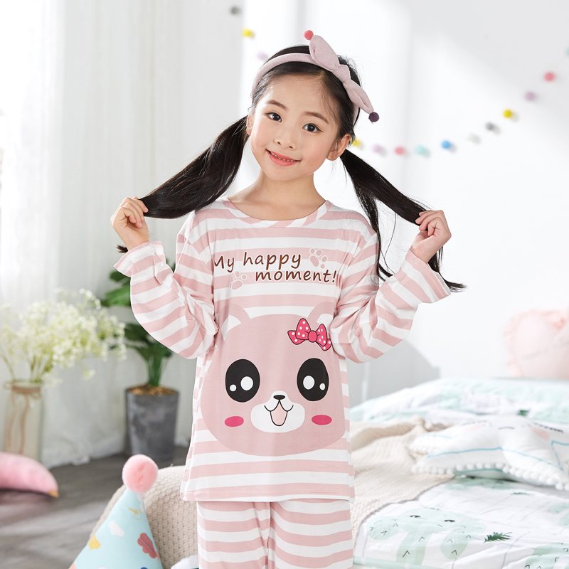 New Christmas Children's   Pajamas     Set   Girls Cotton New Years Sleepwear Long-sleeved High Quality Kids   Pajamas   Suit Print Cute Pjs