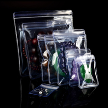 100Pcs PVC Anti-oxidation Jewelry Zip Lock Packaging Bag Reclosable Plastic Anti-tarnish Zipper Pack Pouch for Rings Beads Pearl