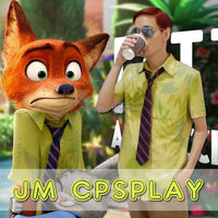 Free Shipping 2016 New Movie Zootopia Nick Wilde Shirt Cosplay Costume For Adult Halloween Party Cospaly