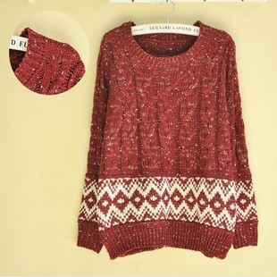 Free shipping new 2013 cute christmas sweaters for women plaid ...