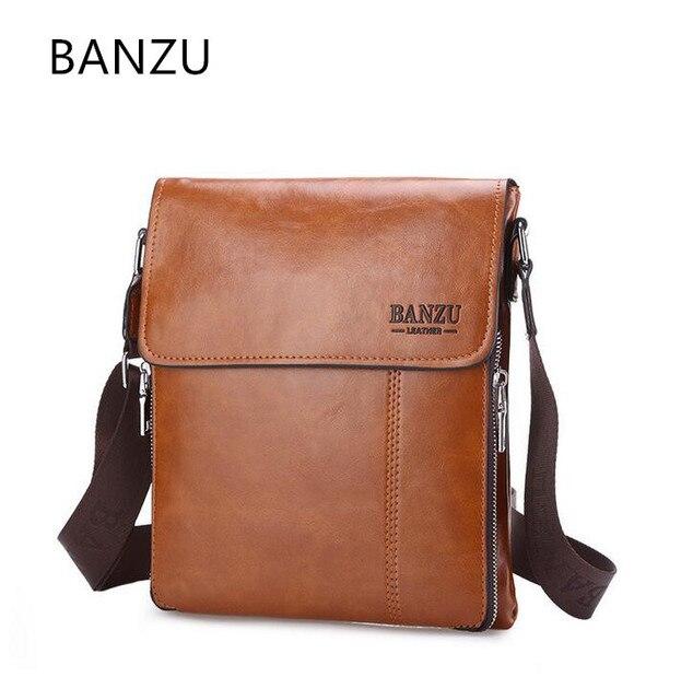 2017 NEW Premium Brand BAZU Men Bags Classic Design Casual Shoulder Bag  fashion Vertical section business men messenger bag h3 cd570195ab48c
