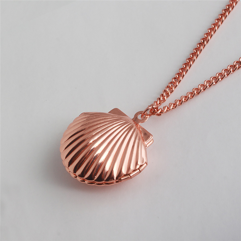 ROMAD Shell Pendant Long Necklace Openable Long Sweater Necklace For Women Fashion Simple Choker Costume Jewelry kolye R4