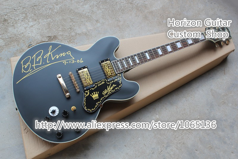 good cheap price hollow body b b king signature electric guitar hollow body chinese musical. Black Bedroom Furniture Sets. Home Design Ideas