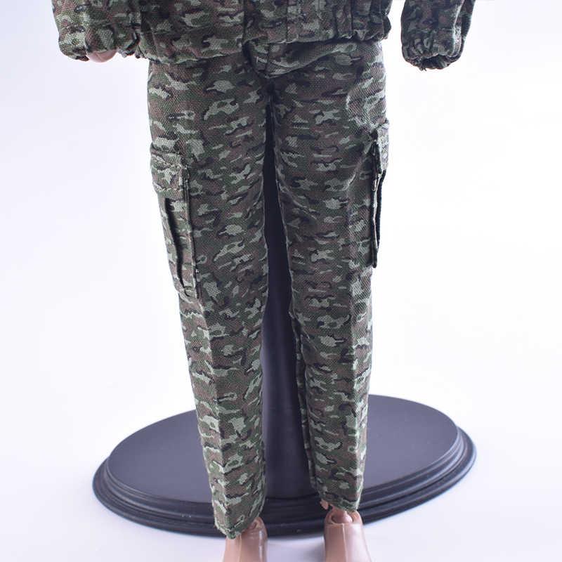 Trajes de combate militares de camuflaje a escala 1/6 con capucha para figuras de acción de Phicen Muscle Soldier de 12 pulgadas, juguetes para niños