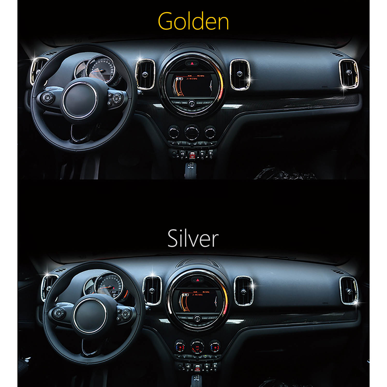 US $25 0 |Mini Interior Air Conditioner Outlet Decorated Inlaid Preciosa  Crystal Frame For Mini Cooper New Countryman F60-in Interior Mouldings from