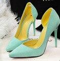[328] обуви женщина обувь Леди Насосы Сплошной Цвет Ночной Клуб Тонкий ПР Отметил Супер Высокие 11 см Каблуки Сексуальные женщины Насосы. PSDS-8915