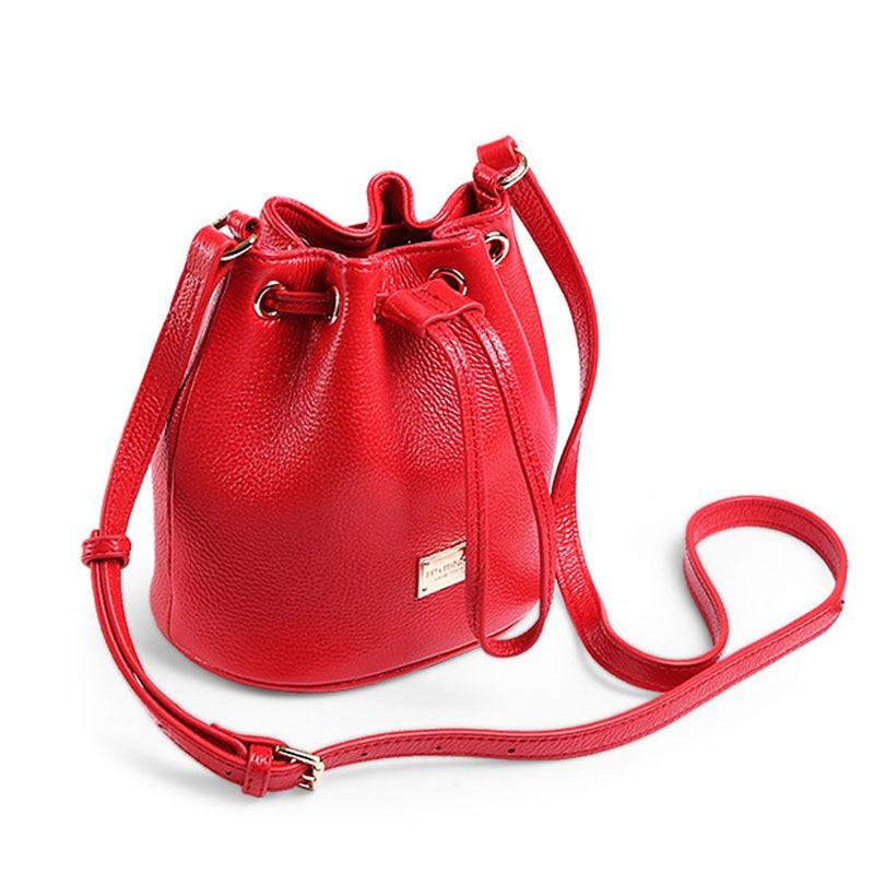 A2012 New Arrival Genuine Leather women's Bucket bag Crossbody lady Shoulder Bags Female Messenger Bag All-match Colors Bolsas