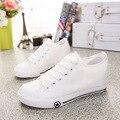 2017 ясно моды Женщин белые туфли ботинки женщин мягкие кожаные ботинки квартиры женский весна осень холст обувь J4A9117W
