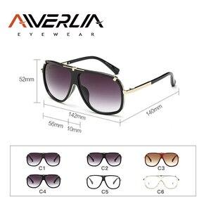 Image 5 - AIVERLIA Sunglass erkek eski erkek güneş gözlüğü marka tasarımcısı Sunglass erkek UV400 degrade Lens óculos Masculino Gafas AI41