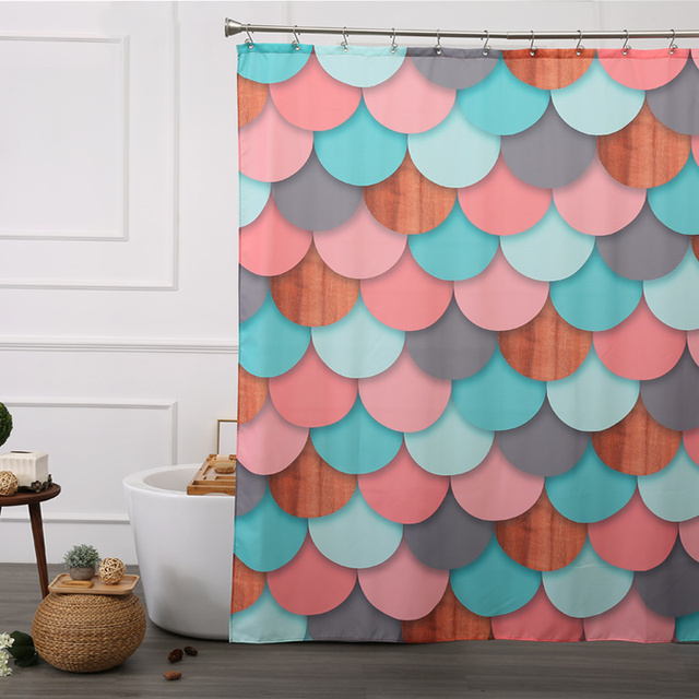 WARM TOUR Aimjerry Christmas Eco Friendly Polyester Shower Curtain Liner  Clear Extra Long Design180X180cm
