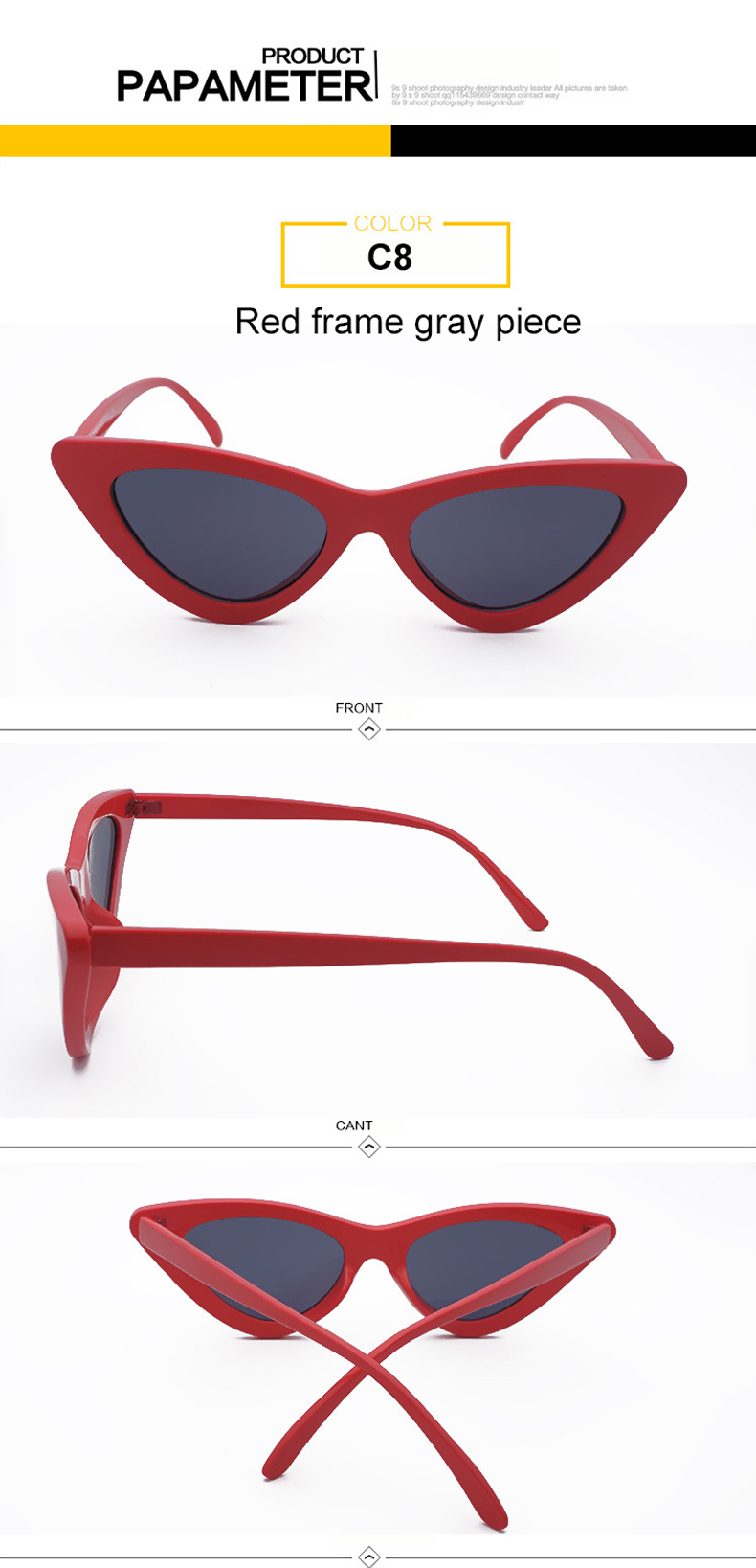 HTB1YnzRiLNNTKJjSspfq6zXIFXaB - WHO CUTIE 2018 Brand Designer Black Cat Eye Sunglasses Women Cool Small Cateye Frame Sun Glasses Fashion UV400 Shades WG-008