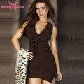 Sexy Clube Vestido Halter Drapeado Mulheres Clubwear Mini vestidos de festa Vestido de Verão vestido bodycon mulheres robe sexy prom elegante W850480