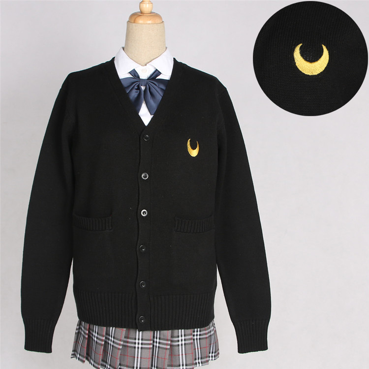 9 Colors Japanese Style Students Girls Cardigans Sweater Sailor Moon JK School Uniforms Symbol Embroidery Knitwear Autumn Winter