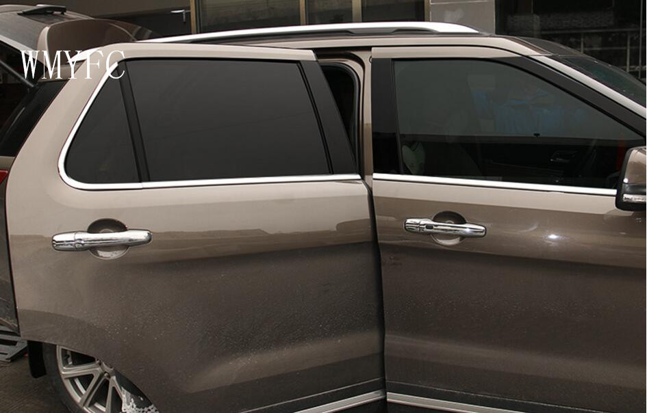 Inoxidable ventana etiqueta para Ford Explorer 2013 2014 2015 2016 ...
