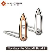 Mijobs Dolphin Lágrimas 1/1 S Miband para Colar de Pingente de Metal Em Aço Inoxidável Pulseira de Relógio Inteligente para Xiaomi Mi banda 1/1 S Cinta
