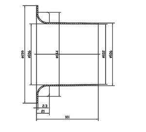 Image 2 - Subwoofer Woofer Speaker Port Tube Bass Reflex Tube Speaker Vent 144x101mm