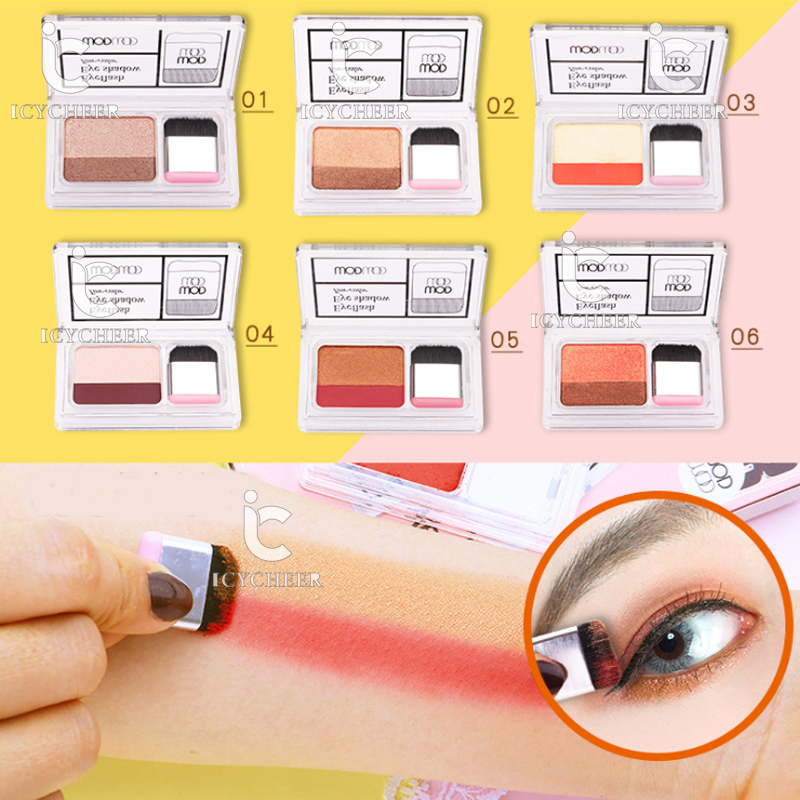 Icycheer Makeup Magazine Lazy Eyeshadow Stamp Holiday Edition Eye Shadow Double Color Shimmer Palette Long Lasting Natual Nude Beauty & Health