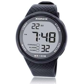 Gorąco!!! Moda męska sport zegarki wodoodporna 100m Outdoor Fun cyfrowy zegarek pływanie nurkowanie zegarek Reloj Hombre Montre Homme tanie i dobre opinie Xonix RUBBER CN (pochodzenie) 22cm 10Bar Sprzączka ROUND 12 6mm Z żywicy Kompletny kalendarz Odporna na wstrząsy stoper