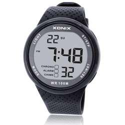 811abbaaf86 Moda Homens Esportes Relógios À Prova D  Água 100 m Relógio