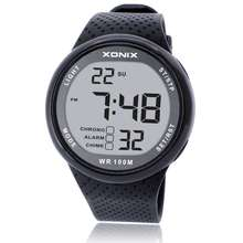 Sıcak!!! Moda erkekler spor saatler su geçirmez 100m açık eğlence dijital saat yüzme dalış kol saati Reloj Hombre Montre Homme