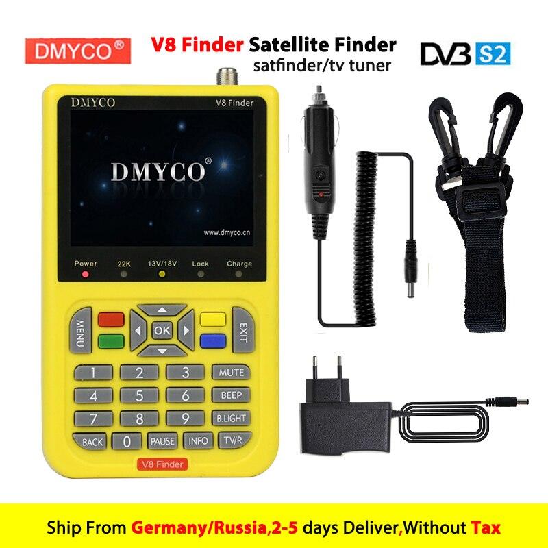 DMYCO V8 Finder Digital TV SatFinder DVB-S2 FTA Satellite Finder Meter HD MPEG4/MPEGs DVB-S Sat Finder with 3.4 inch LCD Display freesat v8 finder dvb s2 digital finder 3 5 inch lcd mpeg 2 mpeg4 compliant digital satfinder vs satellite finder satlink ws6906