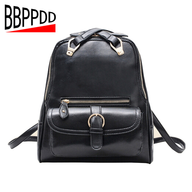 Women Leather Backpack High Quality PU Leather Brand