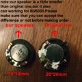 2 pcs para blackview bv6000 bv6000s mtk6755 18*18mm vioce altifalante buzzer ringer reparação parte