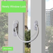 Kids Window Lock Babies Window Stopper Blinds on Windows Lock Thickened Stainless Steel Wire Window Handle Lock Safety Hardware(China)