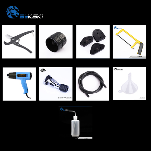 Bykski Bending Tool For Acrylic + PETG Hard Tubing Pipe Bender/Cutter/Hot Air Gun/Chamfer/Rubber Strip/Steel Saw/Funnel/Bottle