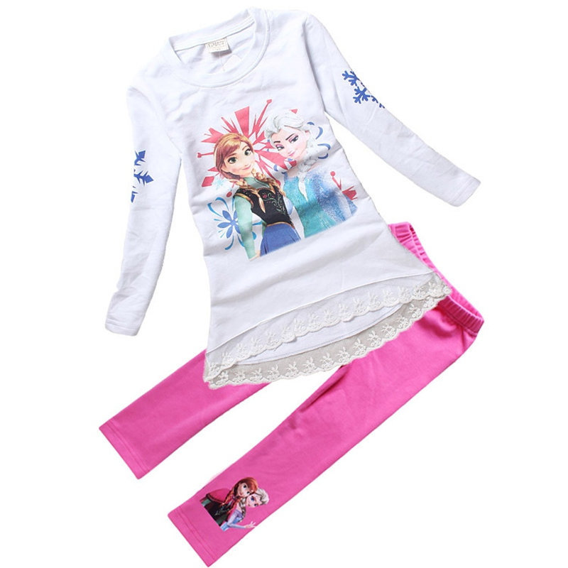 Elsa Anna long t shirt legging set 2-3