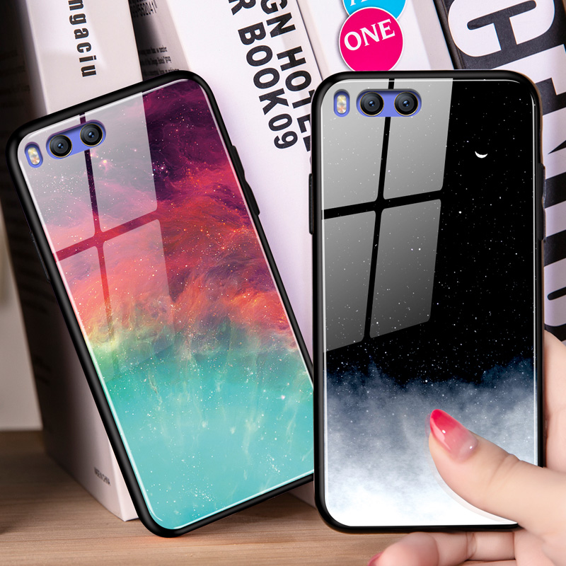 Starry sky Tempered Glass Coque For <font><b>Xiaomi</b></font> Redmi S2 5 Plus Note 5 6 Pro <font><b>Mi</b></font> Max 3 <font><b>A2</b></font> 6X 5 5S 6 8 SE Lite Explorer Mix 2 2S Case image