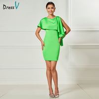 Dressv green sexy cocktail dress scoop neck sheath above mini length sleeveless elegant cocktail dress formal party dress