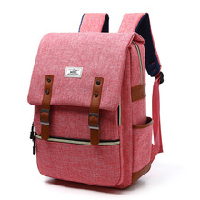 "2020 Crossten Vintage  Men Women 15.6"" Laptop Backpack Leisure Canvas Bags  Fashion backpack schoolbag for teenagers girls"