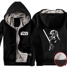Mens Casual 2015 Movie Star Wars: The Force Awaken Darth Vader Winter Super Warm Zip up Thicken Hoodies Coats