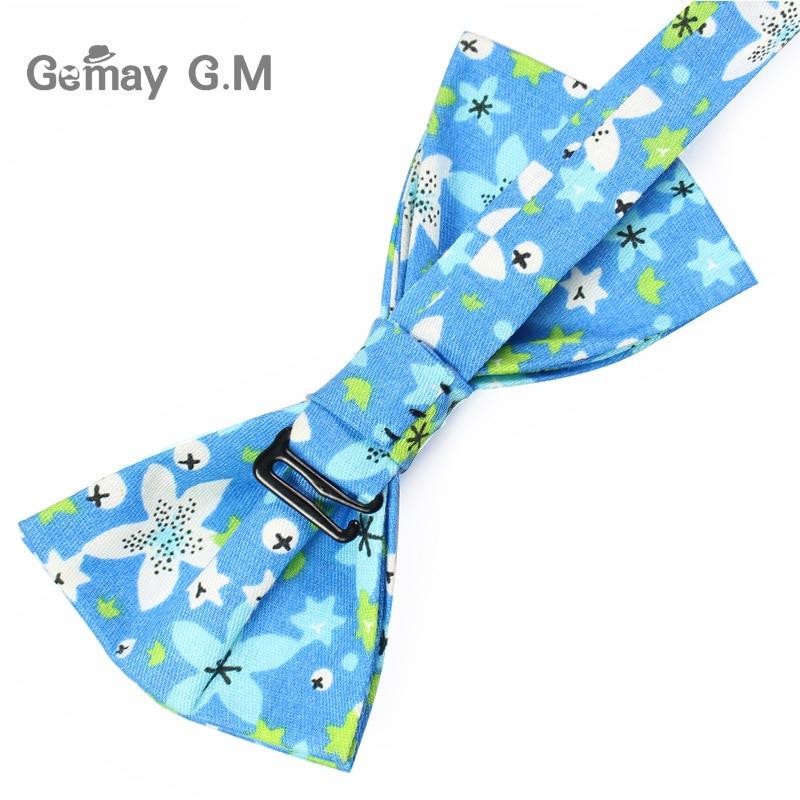 Klassinen kukkakuvioinen solmio miehille tulosta puuvilla Bowtie - Vaatetustarvikkeet - Valokuva 4