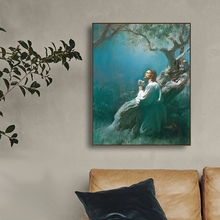Laeacco Canvas Painting Classic Lamb and Jesus Posters Prints Wall Artworkwork Home Decoration Living Room Bedroom Decor